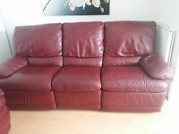 Leather recliner sofa ( 3 + 2 seater )