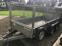 Ifor Williams GD125 G trailer 12ft x 5ft mesh/caged sides