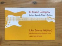 Guitar, Bass & Theory Tuition. Relaxed Environment and Competitive Prices.