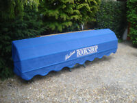 Shop Blind. Approx 3mtres x 400mm x 400mm Royal Blue.