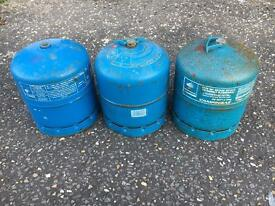 3 x Camping gas bottle for sale. Campingaz.
