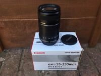 Canon Zoom Lens EF-S 55-250mm f/4-5.6 IS II Boxed Auto Focus Stabilizer