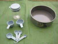 Brand New Metal Cake Baking Tin for £3.00 Plus Plastic Measuring Jug and Spoons for £3.00