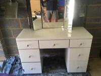 Glass fronted dressing table