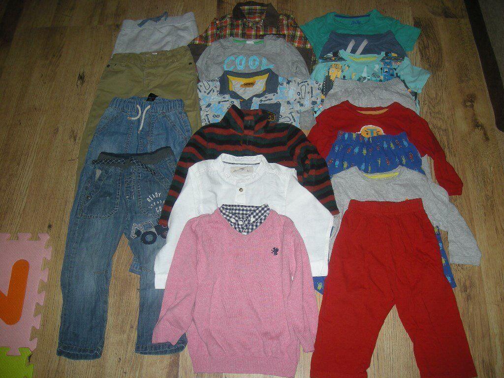 A Lovely Smart Boys Clothes Bundle (inc M&S and Next items) ages 18 - 24 months