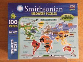 Endangered Soecies 100 Piece Puzzle