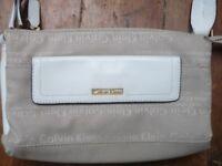 Calvin Klein grey&white handbag