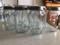 20 x small glass jars with lids, upcycling