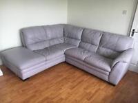 DFS genuine leather corner sofa