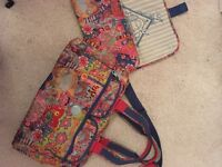 Oilily changing bag with separate mat