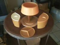 Rubbermaid Lazy Susan Spinning Carousel Canister Set