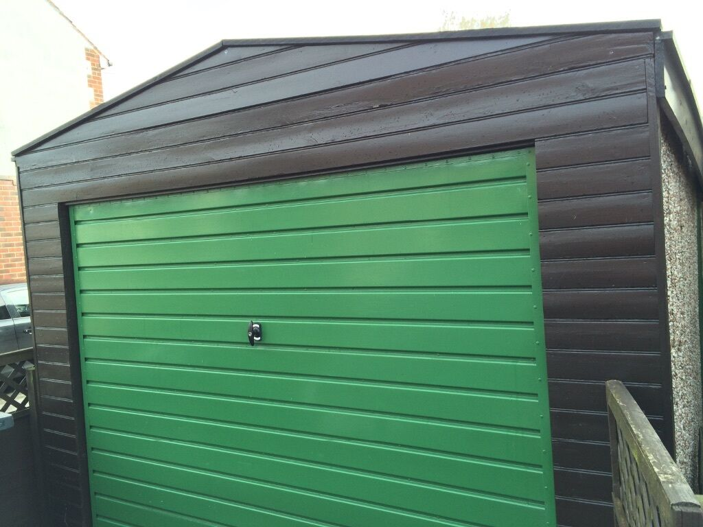 Concrete garage - 16ftx9ft. Wood front with a side door - FREE if ...