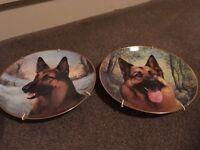 Danbury Mint German Shepherd plates