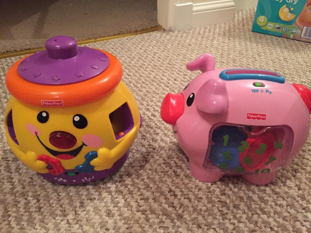 Fisher price cookie jar and musical piggy bank
