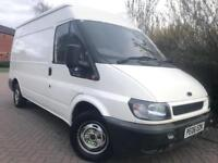 FORD TRANSIT MWB MEDIUM ROOF WHITE 1 FORMER KEEPER LOW MILES 66k READY FOR WORK NO VAT!!