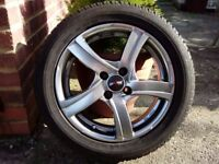 Mini Cooper Alloy wheels and Winter Tyres.