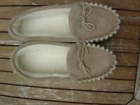 Pair of Size 9 Sheepskin Slippers as New, Never Worn