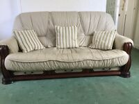 3piece leather couch