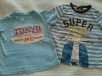 Boy's T-shirts age 2 bundle, good used condition, s&pfh, Tokyo and scooter logo, vg cond
