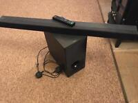 Sony sound bar with wireless subwoofer