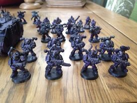 Small Chaos Space Marine Army W/ Codex
