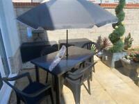 Grey/graphite garden furniture set - very stylish colourway