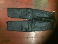 AKITO T-FORCE LEATHER JEANS