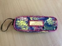 River Island Makeup Brush Bag! Brand New! Pink/multicolour with gold badge