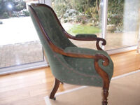 Victorian mahogany button back chair