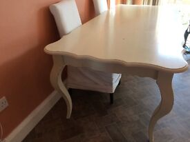 French Style shabby Chic white dining table serious offers considered