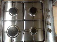 practically new Caple gas hob with safety devices (thermocouples) brushed steel