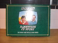 VINTAGE 1986 BOXED BBC A QUESTION OF SPORT GAME - VERY GOOD CONDITION AS IS BOX