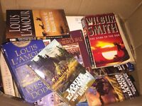 Box of books, used westerns, Louis l'amore