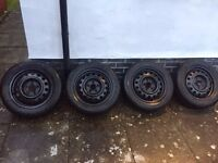 "Winter Michelin Alpin A4 tyres on 16"" steel wheels. Kia, Hyundai etc. 6.0x16, 5x114.3, ET51."
