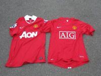 Man Utd Football Shirts x 2