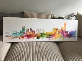 Manchester Skyline Panoramic Canvas