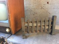 Vintage Stand Alone Cast Iron Fire Grate- delivery available