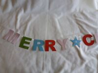 Merry Christmas Banner Bunting Decoration