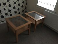 2 Coffee Tables / Occasional Tables. Wood & Glass