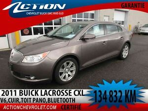 2011 BUICK LACROSSE CXL V6,CUIR,AUTO,AIR,TOIT PANO,BLUETOOTH