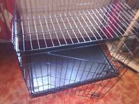 Large RAC double door fold flat dog cage - never used!