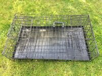 """Car Dog Cage Carrier (35""""w x 26.5""""h x 20""""d) for hatchback and estate cars"""