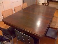 ANTIQUE MAHOGANY DINING TABLE SOLD