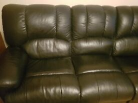 Leather 3 seater sofa recliner