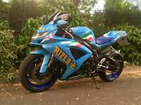 Suzuki GSXR 600 K8 Rizla 2008 LOW MILEAGE Not 1000 750