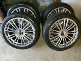 "18"" Alloys and Tyres"