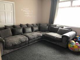 Sofology trevena grey corner sofa