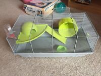 Cage for mouse or hampster with a full equipment