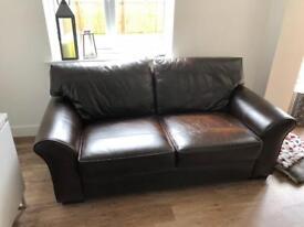 Brown Leather Sofa medium Garda Brown