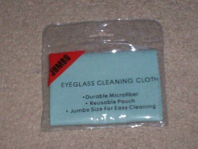 """MICROFIBER"" .. ""SOFT VELURE  EYEGLASS CLEANING CLOTH""   (Jumbo Size)"